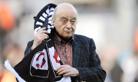 10 July. Fulham keep silent on reports that Mohamed Al Fayed may sell club