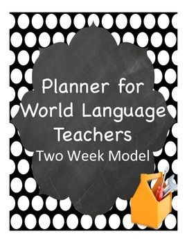 Planner specifically for foreign language teachers. Use the pages again and again, present as evidence in evaluations!