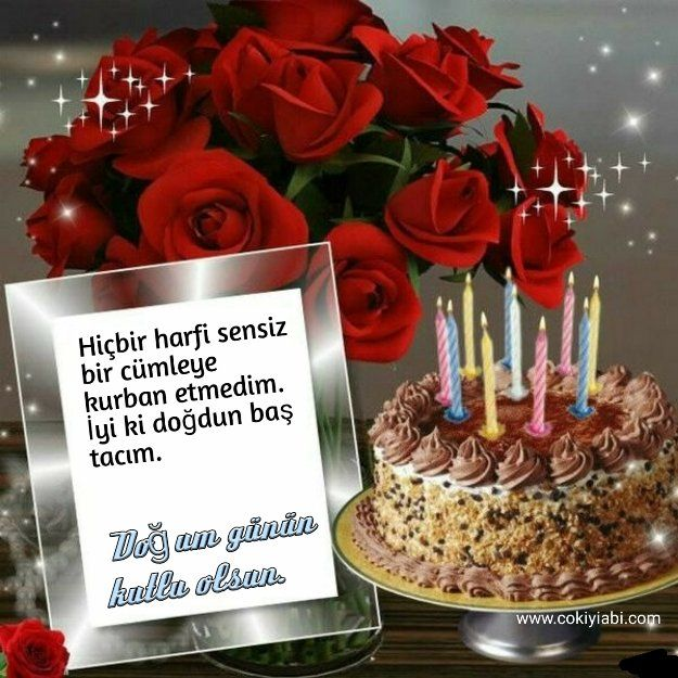 Esime Ad Gunu Mesajlari Happy Birthday Candles Happy Birthday Wishes Photos Happy Birthday Flower