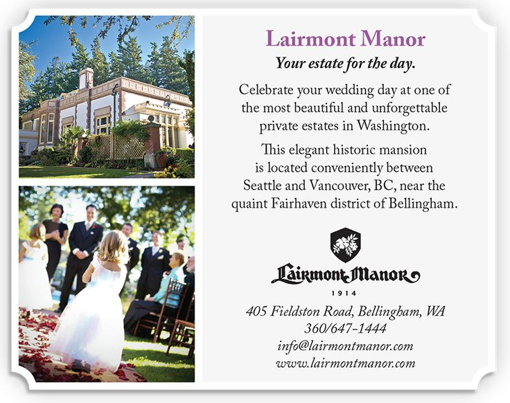 Lairmont Manor Bellingham Washington Wedding Venue