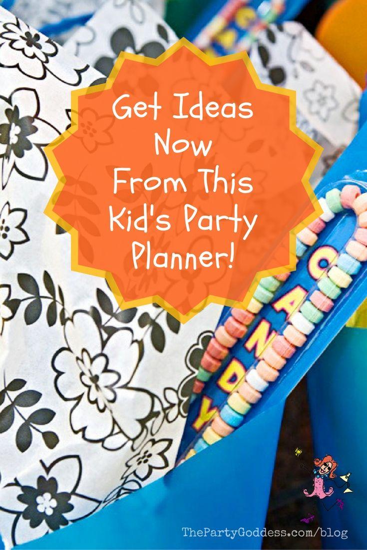 25+ best Kids party planner ideas on Pinterest | Birthday party ...