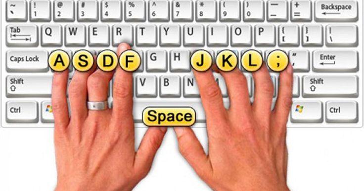 Správny prstoklad na klávesnici typu QWERTY.