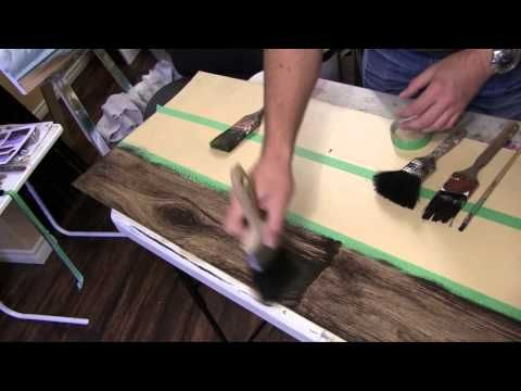 How to paint a Faux wood Floor Tutorial - YouTube I want to do this in our new house only on concrete.