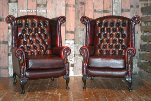 Maryland Wing Chairs Chesterfield - Old English , Bawtry, South Yorkshire UK - +44 (0)1302 714414