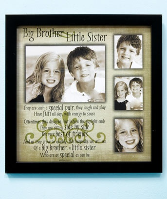 Big Brother Little Sister Collage Photo Frame Display Children Pictures | eBay
