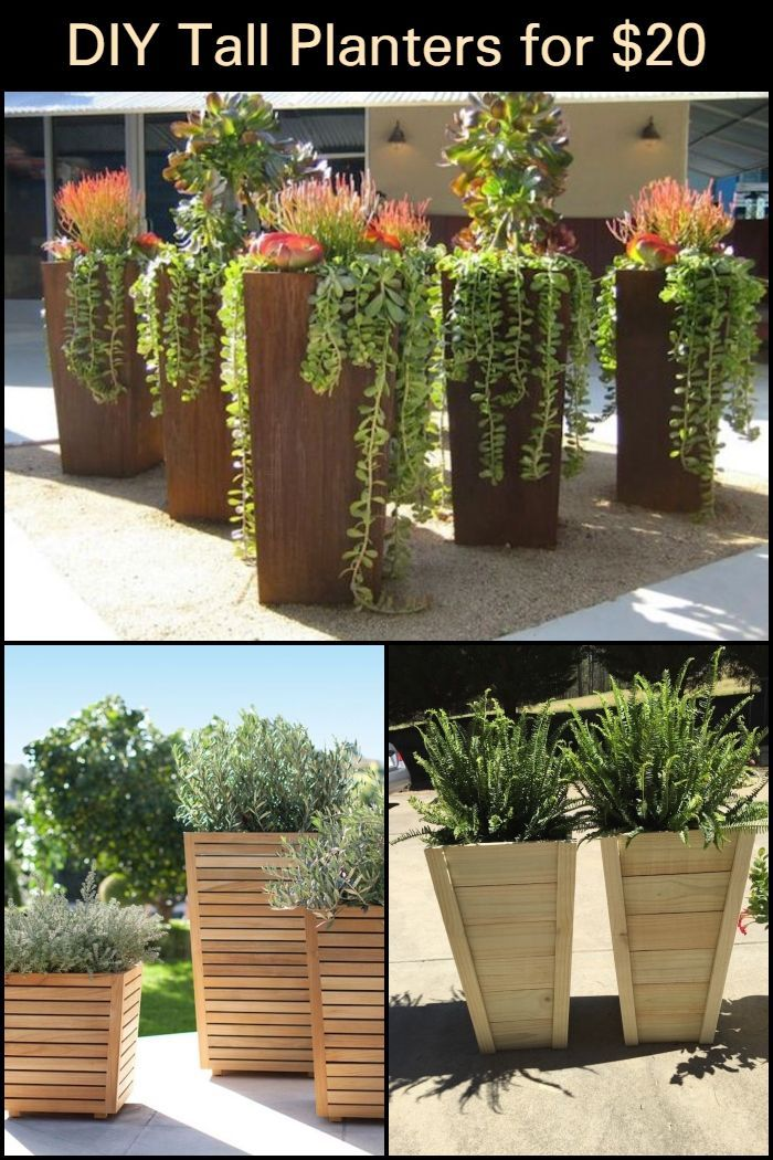 Diy Tall Planters For 20 Diy Planters Outdoor Potted Plants Outdoor Diy Outdoor Planters Pots