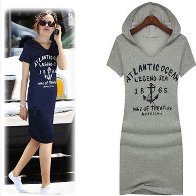 New Women's Casual Letter Print Long Cotton Hoody Fitted Hoodie Long Sweatshirt The captain
