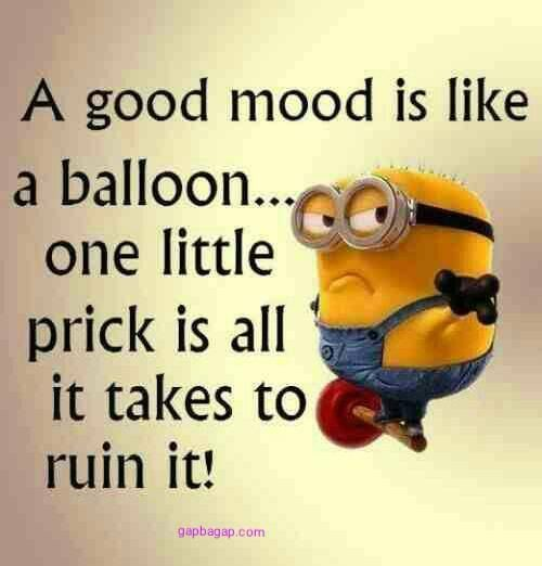 Funny Minion Joke About Mood vs. Balloons
