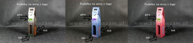 Opakowania do wina i kosze prezentowe dla Firm: Pudełko z logo Firmy