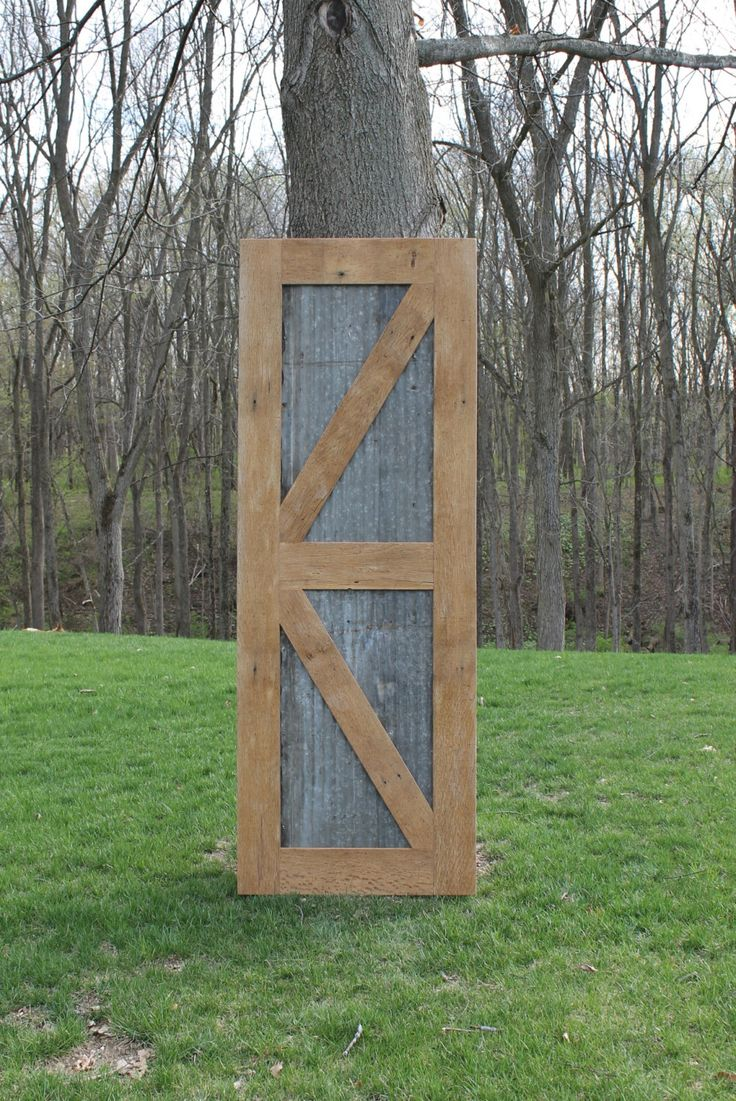 Rustic Barn Door - Sliding Barn Door w/Barn Tin  #1142 by Keeriah on Etsy https://www.etsy.com/listing/268175444/rustic-barn-door-sliding-barn-door-wbarn