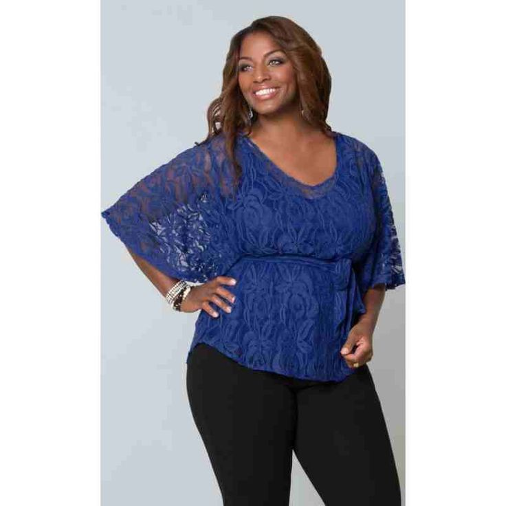 PRE-ORDER - Ethereal Lace Blouse (Mosaic Blue) $111.00 http://www.curvyclothing.com.au/index.php?route=product/product&path=95_103&product_id=8242
