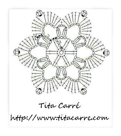 snowflakes crochet 7 schema