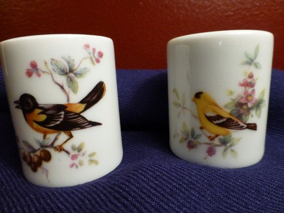 West German Porcelain Candle Holders  Small Size by ChicAvantGarde, $9.00
