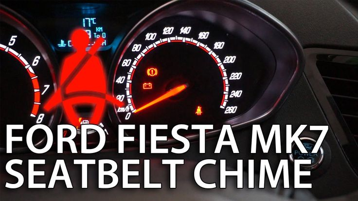 How to disable #Ford #Fiesta MK7 seat belt chime (deactivate safety reminder)
