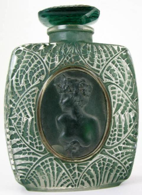 """ Lalique 1920s Perfume Bottle Cameo """