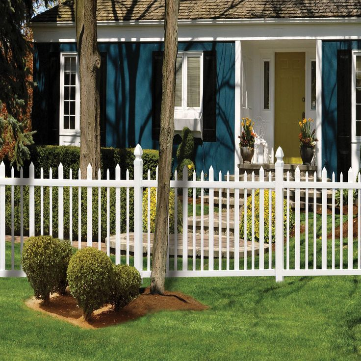 shop gatehouse arborley 48in x 8ft white stockade picket vinyl fence panel