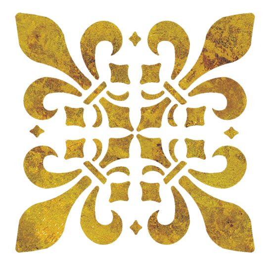 Quickly and easily embellish walls in your hallway, bathroom, bedroom and more with our Fleur de Lis Tile Accent Painting Stencil!