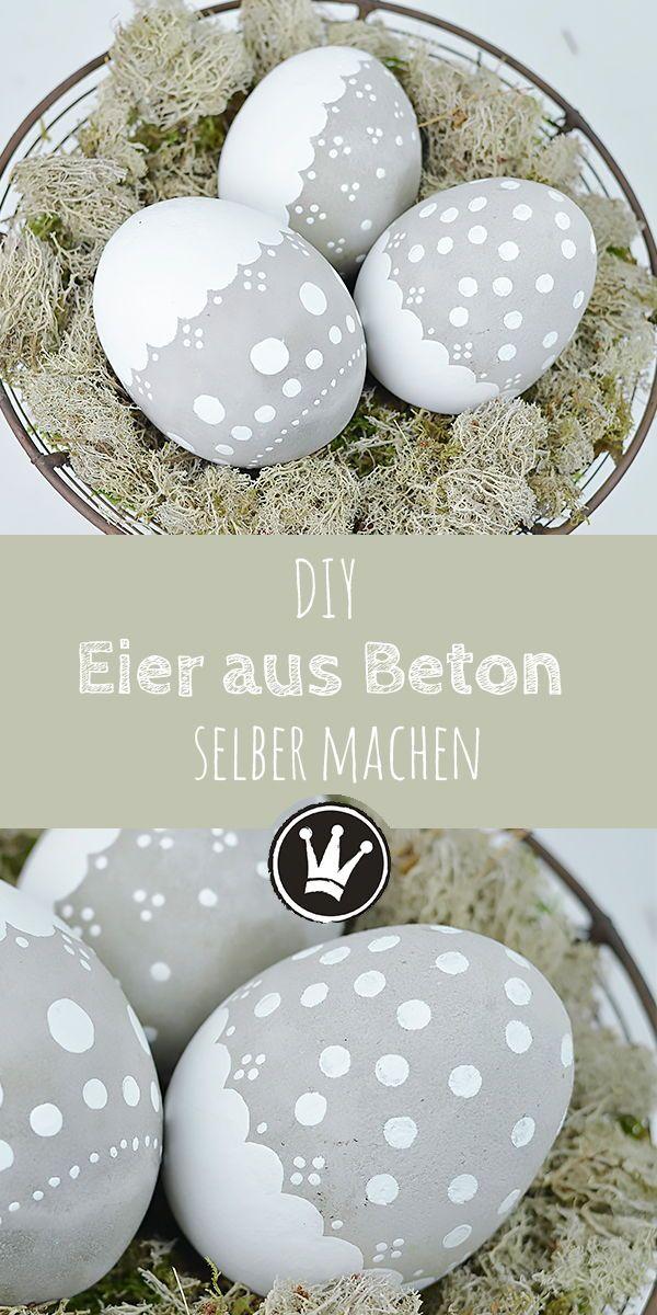 Wetterfeste Osterdeko: DIY Osterei aus Beton