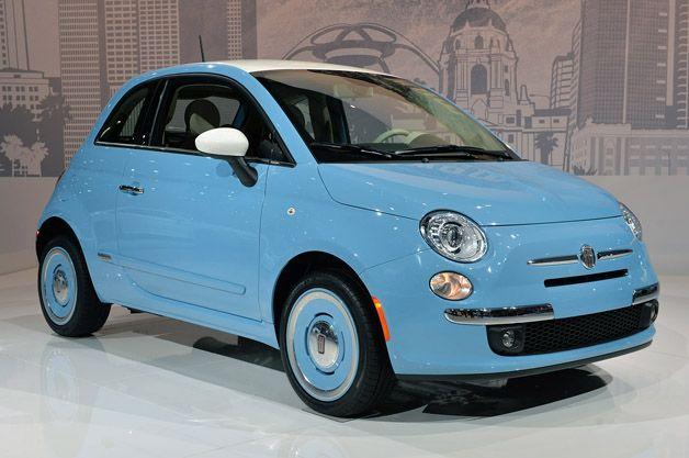 2014 #Fiat 500 1957 Edition takes retro even further. http://aol.it/1e5mvJB #laas #laautoshow