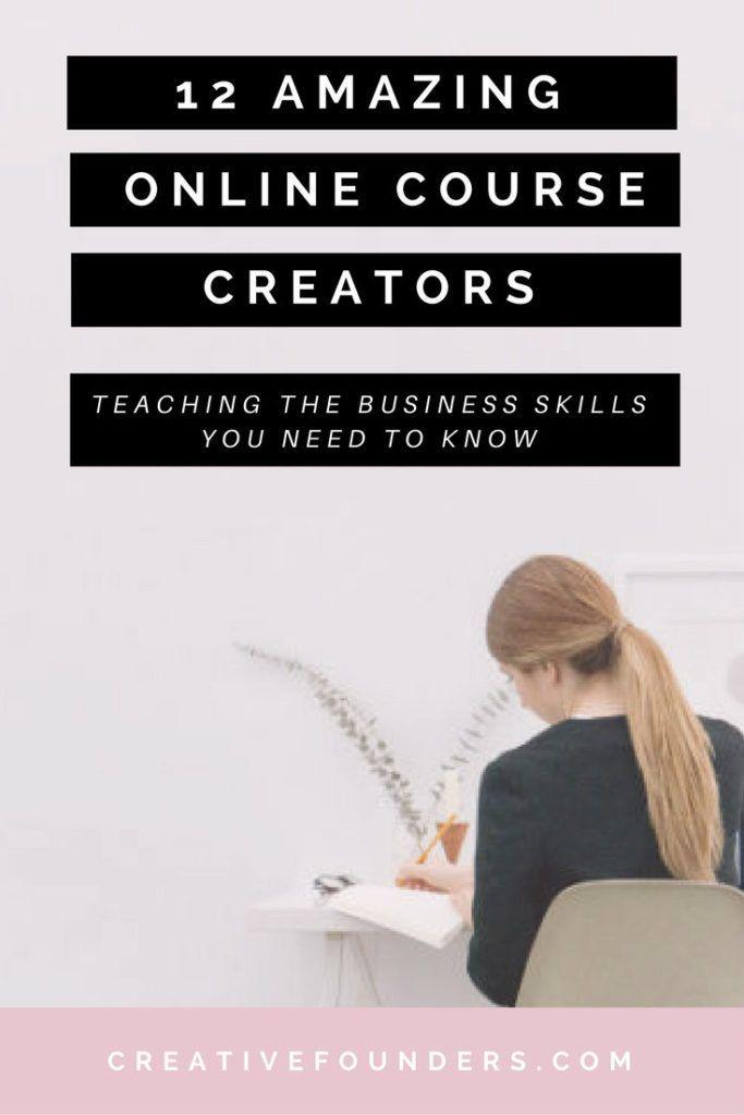 12 Amazing Female Online Course Creators. Online Course Tips. Free Online Courses. Online Course Ideas - Jennifer Puno / Amanda Genther /  XOSarah / Scoop Industries / ByRegina / The Merriweather Council / Lovepluscolor / FEMTREPRENEUR / MELYSSA GRIFFIN / JESSICASPRAGUE.COM / OLYVIA.CO / APRETTIERWEB.COM