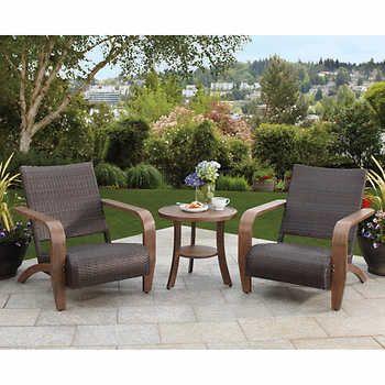 Studio by Brown Jordan 3-piece Adirondack Seating Set