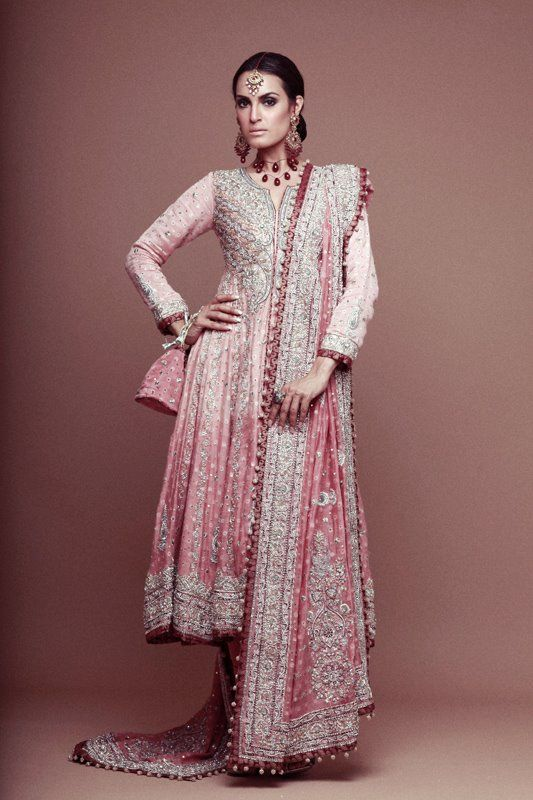 Wedding anarkali, perfect for an engagement or reception via Pak Couture