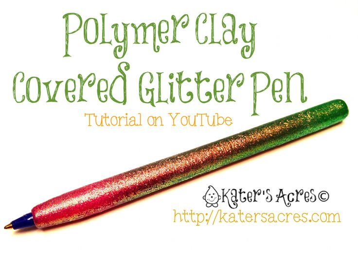 How to Cover a Bic Round Stic Pen with Polymer Clay Well, it's about time...my first ever polymer clay video tutorial!  Perhaps I can get one of these made every month for all my wonderful readers and claying friends...but we'll have to see.  Today's how-to is a polymer clay pen ...