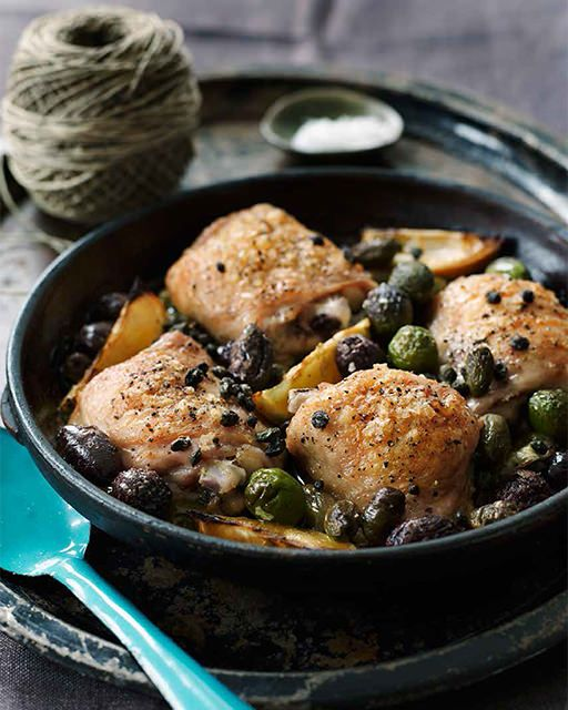 Chicken with Olives, Lemon and Capers.