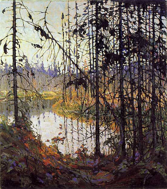 """Tom Thomson - """"The Northern River"""" (1915). Canadian painter associated with--but not a member of--the Group of Seven."""