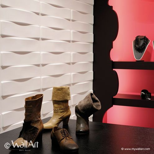Pannelli tridimensionali wallart vaults dal design moderno ed accattivante confezione in box da mq.3.