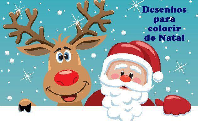 Desenhos para colorir do Natal