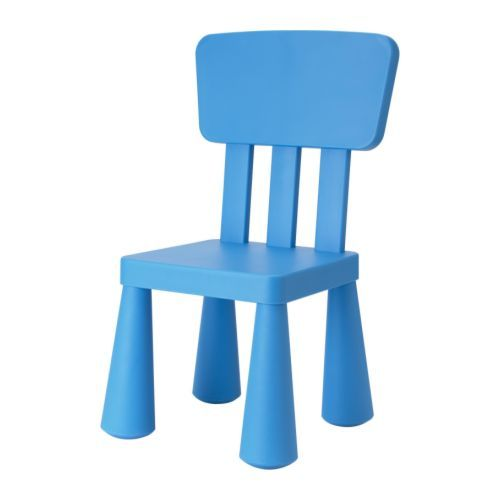 MAMMUT Children's chair - blue  - IKEA- 14.99- this would be really cute in the reading area!