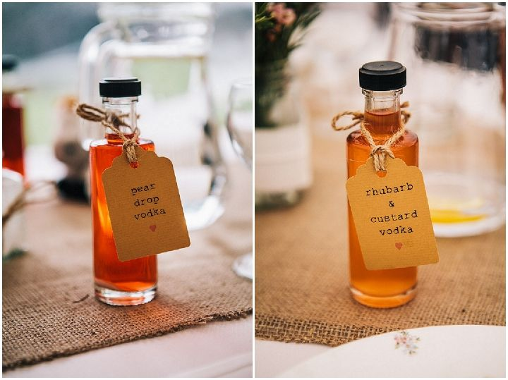 Party drinks as wedding favours