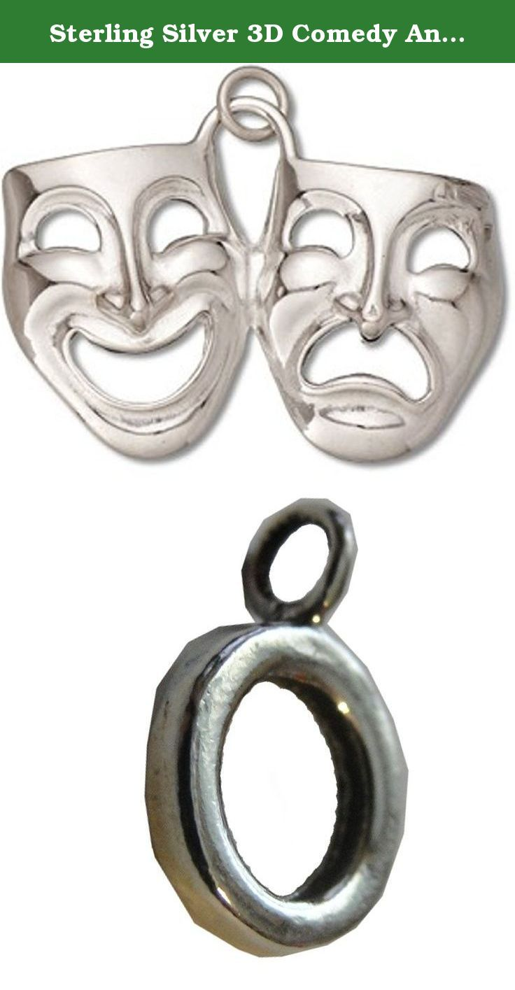 "Sterling Silver 3D Comedy And Tragedy Theater Actor Mask Dangle Charm Bead For Bead Charm Bracelet. Sterling Silver 3D Comedy And Tragedy Theater Actor Mask Dangle Charm Bead For Bead Charm Bracelet. The Charm Bracelet Bead That Holds The Dangle Charm Has An Inner Diameter Of 5.8mm And Is Approximately 1/16"" Wide With A Height Of 1/8"". Great Dangle Charm Bead For Bead Charm Bracelet For Anyone Who Is In Theater Arts Or Broadway Plays. Material: .925 Sterling Silver Dimensions: 3D Dangle..."