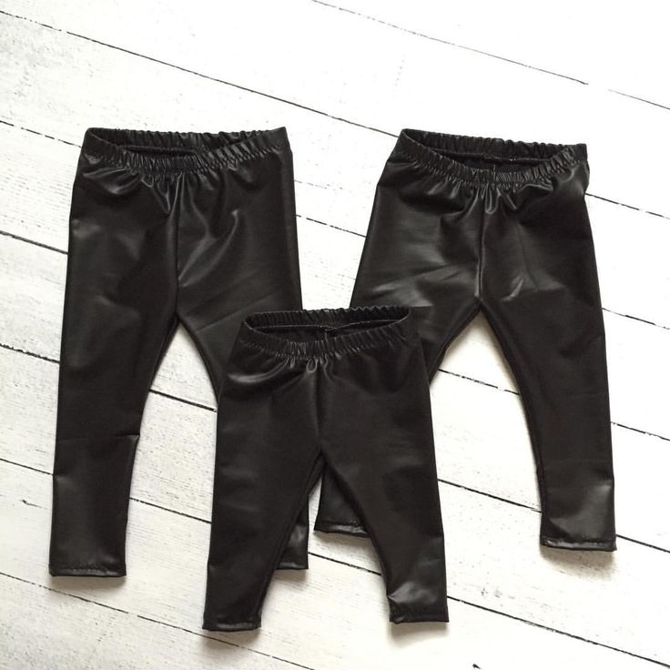 Faux leather pants for babies & toddlers.