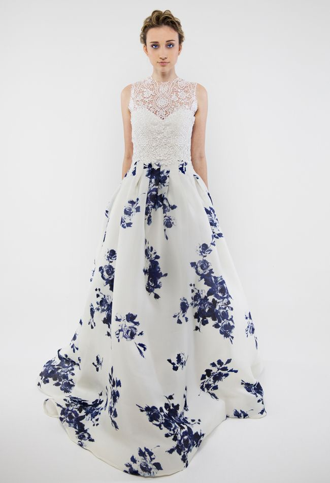 Francesca Miranda  Spring 2014 Wedding Dresses // Love the color and lace. // #dress #wedding #fashion