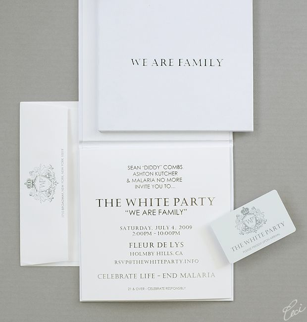 41 best event invitations images on pinterest event invitations sean diddy combs white party invitations by ceci stopboris Choice Image