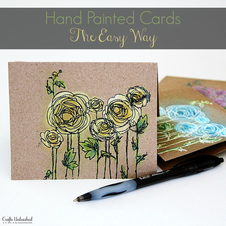Hand Painted DIY Note Cards - look like an artist with little effort! Full photo tutorial.