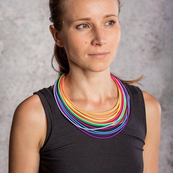 COLORIKA jewellery, COLORIKA necklace, Rainbow necklace Rainbow jewelry Tribal Jewelry