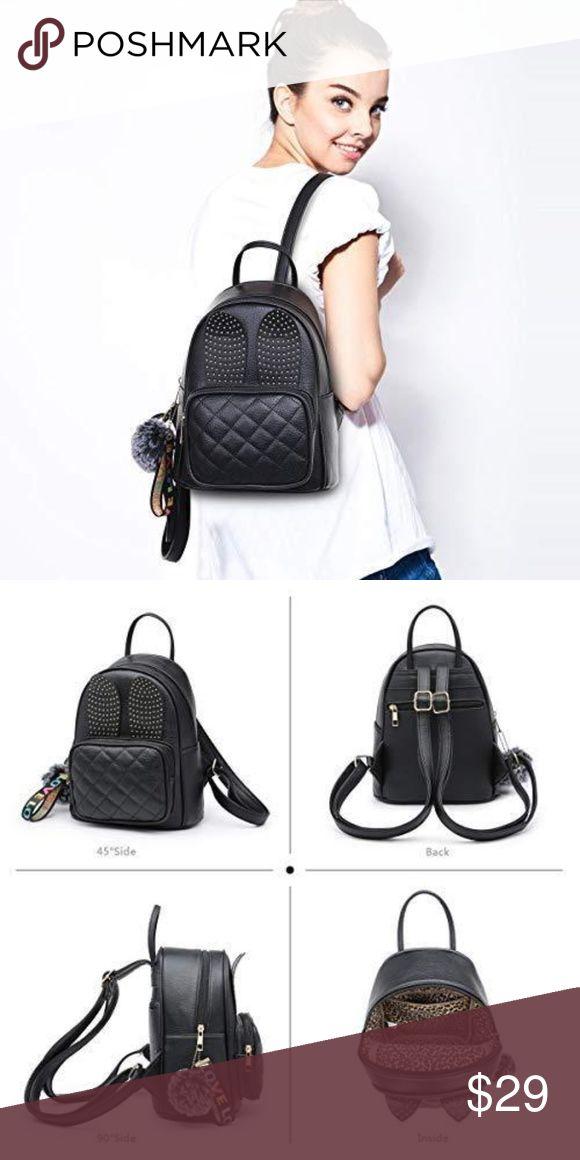 191262e13a XB Rabbit Ear Cute Mini Leather Backpack NWT in 2018