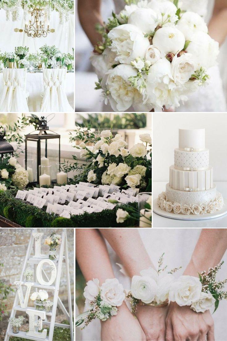 Klasszikus fehér | Esküvői színek 2017 - 15 trendi színkombinációt mutatunk a tökéletes esküvői dekorációhoz. Inspirálódj velünk!