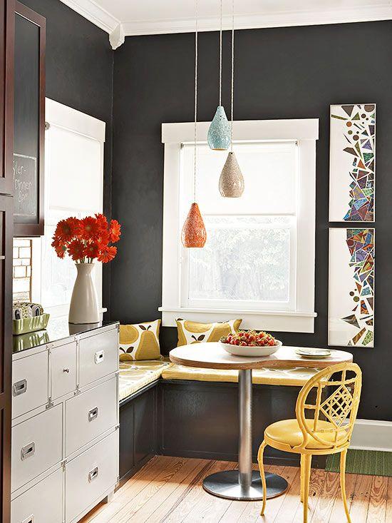 Small dining area #smalldiningroomideas #diningroomdecoration #diningroomideas #diningareadesign dining room design, dining room decor, modern dining room | See more at diningroomideas.eu