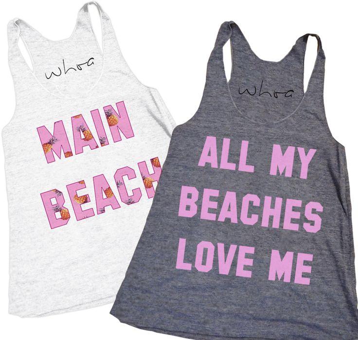 Main Beach All My Beaches Love Me Bachelorette Tank Party