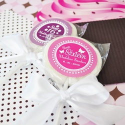 personalized sweet 16 party favors for Marina's Sweet 16 party <3 <3 <3