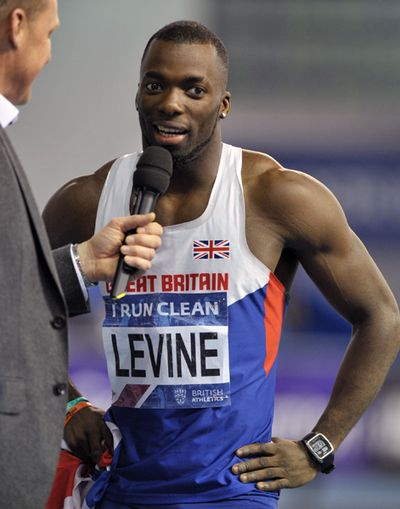 Nigel Levine - British Indoor Champion Men's 400 Meters  Copyright B&O Press Photo.
