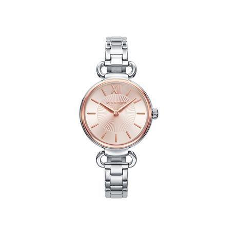 Reloj señora VICEROY Kiss. Un complemento perfecto gracias a la combinación del acero y acero rosado de su esfera. Chic con un toque fashion para lucir en cualquier momento.