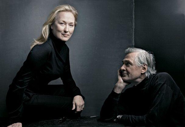 Meryl Streep & John Patrick Shanley by Annie Leibovitz for Vanity Fair