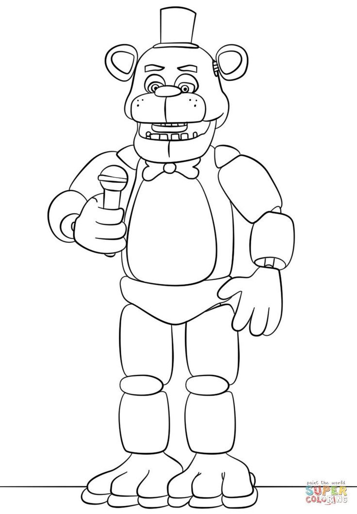 Five Nights at Freddys Coloring Pages Luxury Freddy