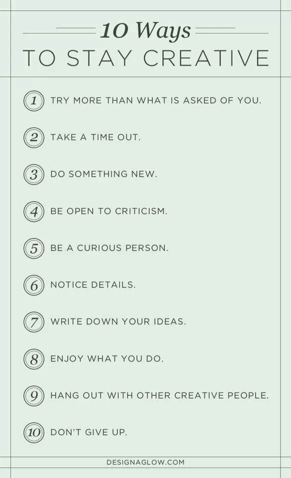 Let's start thinking creatively.