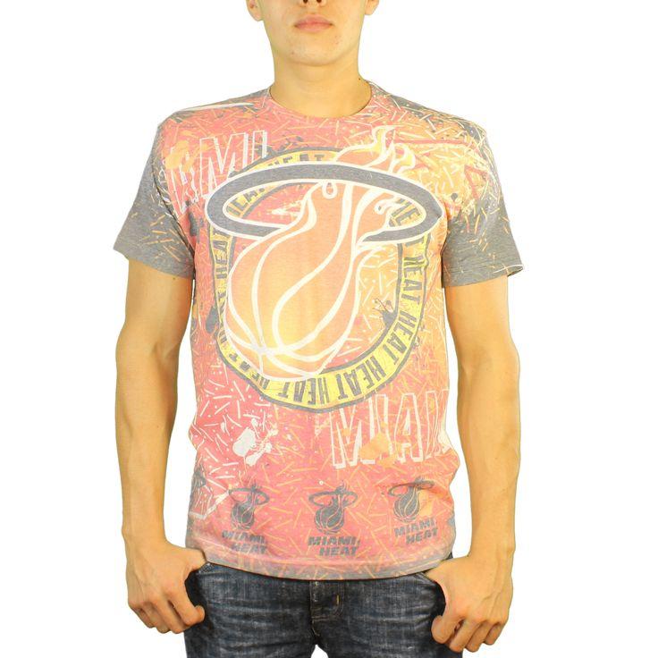 DOE Miami Heat Logo Print Men's White T-shirt